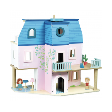 Dukkehus inkl møbler og dukker