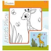 Lærred - Giraf
