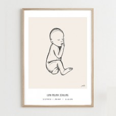 Fødselsplakat, beige - @JASMINMELINA