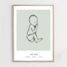 Fødselsplakat, green - @JACKIENAVARRO