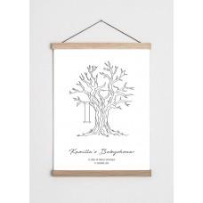 Livets træ plakat - babyshower