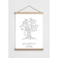 Livets træ plakat - barnedåb