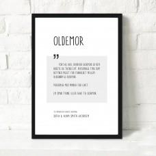 Oldemor, Personlig plakat