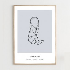 Fødselsplakat, blue - @JACKIENAVARRO
