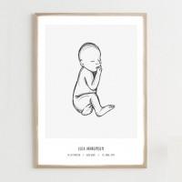 Fødselsplakat, grey - @JACKIENAVARRO