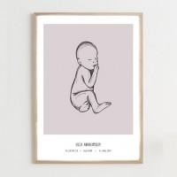 Fødselsplakat, purple - @JACKIENAVARRO