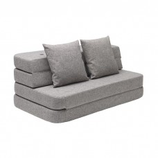 Foldesofa XL, Multi grey w. grey