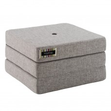 Foldemadras, single, Multi grey w. grey (3 lag)