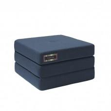 Foldemadras, single, Dark blue w. black (3 lag)