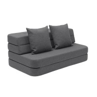 Foldesofa XL, Blue grey w. grey