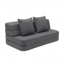 Foldesofa, Blue grey w. grey
