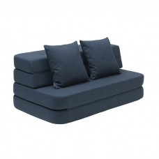 Foldesofa XL, Dark blue w. black