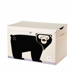 Opbevaringskasse med låg, bjørn