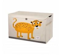Opbevaringskasse med låg, leopard