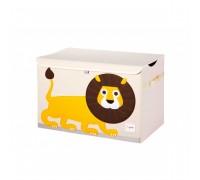 Opbevaringskasse med låg, løve