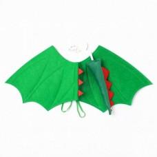 Drage vinge, grøn filt