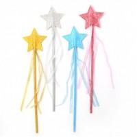 Festav, glitter stjerne - pink