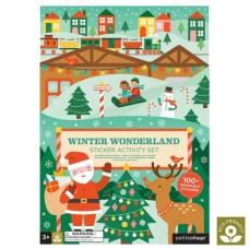 Aktivitetssæt m. juleklistermærker