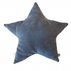 Stjernepude, grå/guld