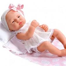 Lucia babydukke, 42 cm. (Jesusito medallón rosa)