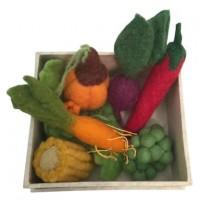 Grøntsagskasse i filt - 6 stk.