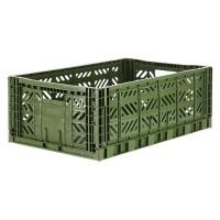 Foldekasse, khaki / army grøn - Maxi