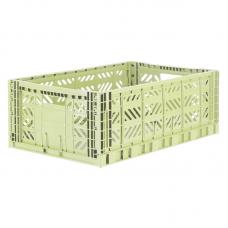 Foldekasse, melon / lysegrøn - Maxi