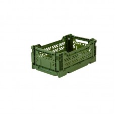 Foldekasse, khaki / army grøn - Mini
