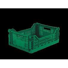 Foldekasse, dark green / mørkegrøn - Midi