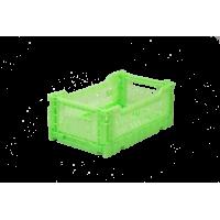 Foldekasse, fluorescent green / neon grøn - Mini