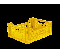 Foldekasse, yellow - Midi