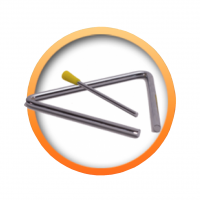 Triangel musikinstrument