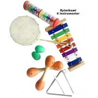 BabyBongo musik og -rytmiksæt (6 instrumenter)