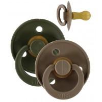 Bibs sutter 2 pk. - hunter green/dark oak (str. 2)