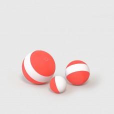 Fødselsdagsbolde - rød/hvid