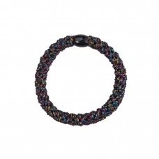 Hårelastik - glitter black rainbow (3 stk.)