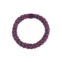 Hårelastik - glitter purple metalic (3 stk.)