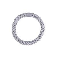Hårelastik - glitter silver (3 stk.)