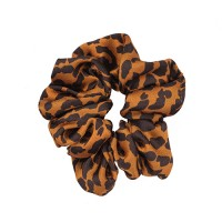 Scrunchie, Orange Leopard