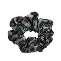 Scrunchie, leopard grey/green