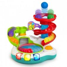 Legetøjs boldbane med lyd og musik