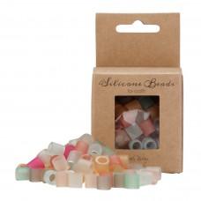 Silikone perler, mix farve