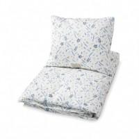 Junior sengetøj, pressed leaves blå