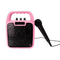 Trådløs speaker m. mikrofon - Pink
