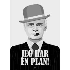 Jeg har en plan! plakat, M (50x70, B2)
