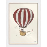 Beautiful balloon børneplakat, S (29,7x42, A3)