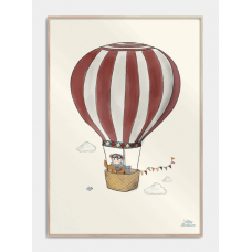 Beautiful balloon børneplakat, M (50x70, B2)