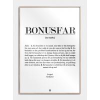 Bonusfar definition plakat, M (50x70, B2)