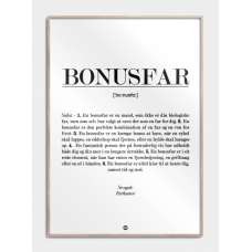 Bonusfar definition plakat, M (50x70, B2)