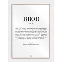 Bror definition plakat, M (50x70, B2)